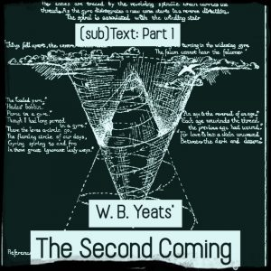 "Cover art for (sub)Text Literature and Film episode on Yeats' ""The Second Coming"" - Part 1"
